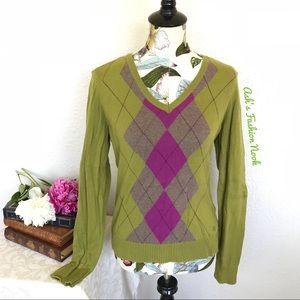 💠Just in💠 IZOD-Green Argyle Sweater